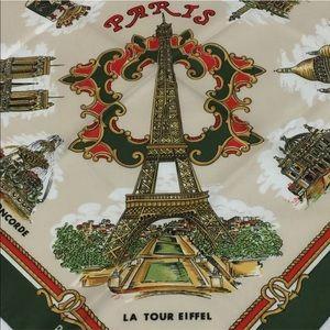 Vtg Roger L Paris Landmarks Souvenir Scarf